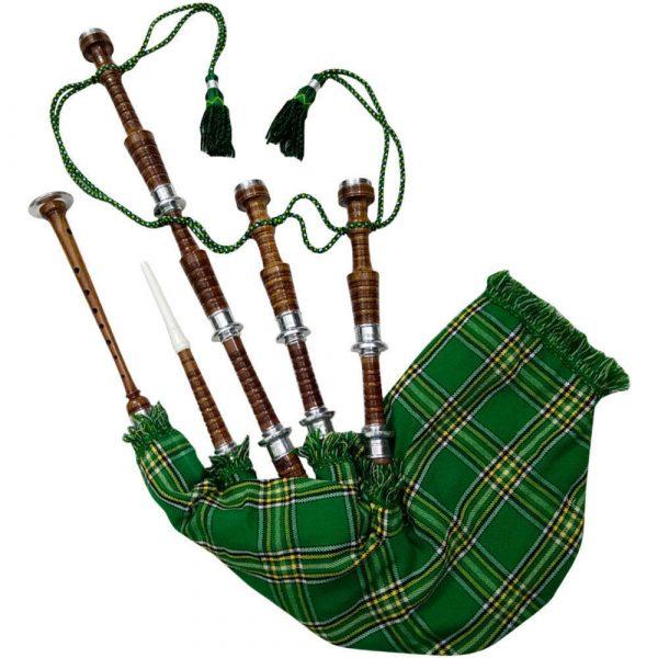 Rosewood Irish National Tartan Bagpipe