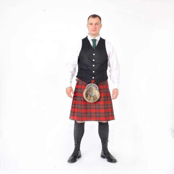 Scottish 8 Yard MacGregor Red Kilt outfits ..