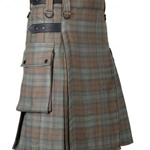 Black Watch Weathered Leather Straps Utility Kilt