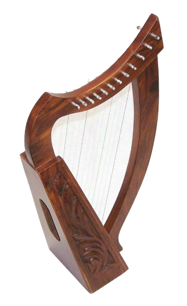 Celtic Irish Baby Harp 12 Strings Solid Wood Free Bag Strings & tuning Key