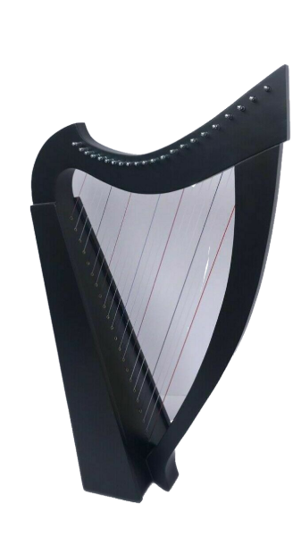 22 Strings Lever Harp Student Harp Solid Wood Black Color Free Bag, Key