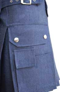 Buy Ladies Blue Denim Utility Kilt
