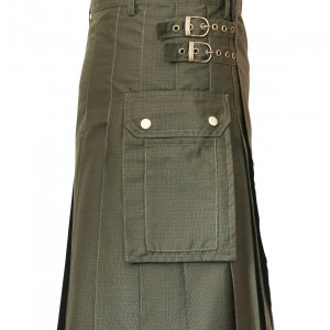 New Scottish Men Tactical Utility Kilts Green & Black Men tactical kilt
