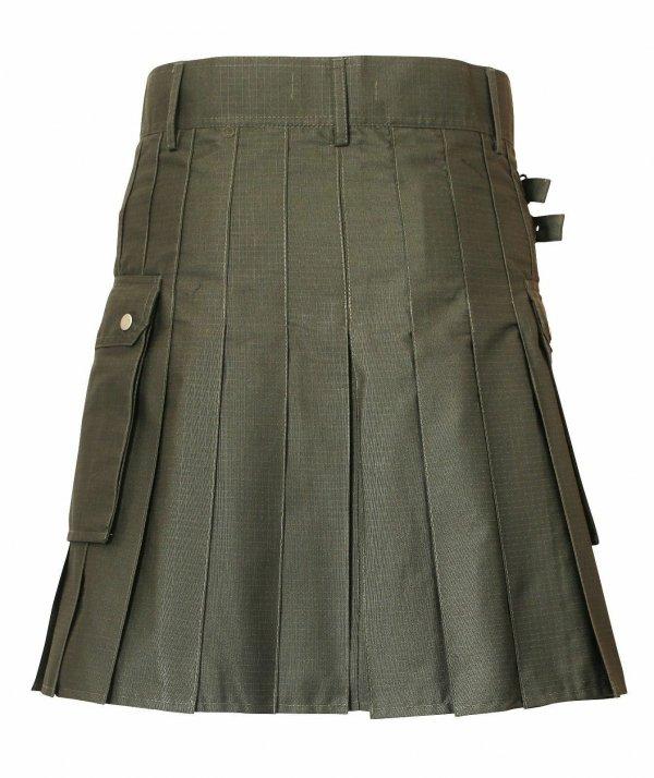 New Scottish Men Tactical Utility Kilts Green & Black Men tactical kilt