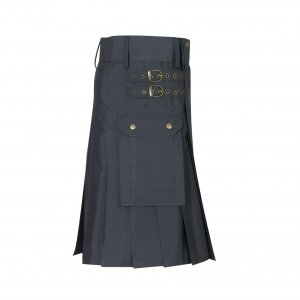 New Scottish Men Tactical Utility Kilts Men Tactical kilt Grey Colour