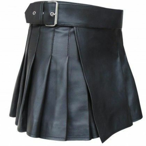 2020 Buy Brand New Kilt Black Women Leather utility Kilt