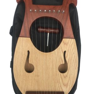 Lyra Harp Sheesham Wood 8 Metal Strings with Free Case & Tuning Key