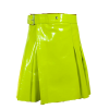 2020 New leather Lime Green utility kilts women Scottish kilt