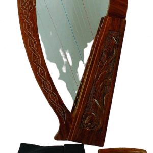 Celtic Irish Baby Harp 12 Strings Solid RoseWood Free Bag, Strings & Tuning Key
