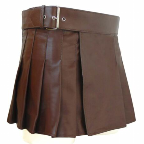 2020 Buy New leather Brown utility kilt women Scottish kilt