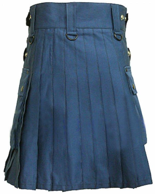 2020 Men Scottish Fashion Utility kilt Made to Measure 100% Cotton