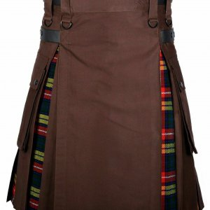 NORWEGIAN FLAG COTTON HYBRID UTILITY KILT FOR MAN
