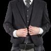 Braemar Charcoal Tweed Jacket & Vest