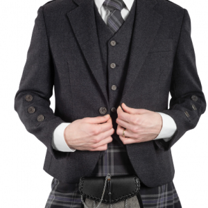 Braemar Charcoal Tweed Jacket & Vest