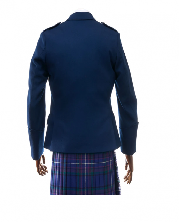 Men's Blue Argyll Jacket & Waistcoat
