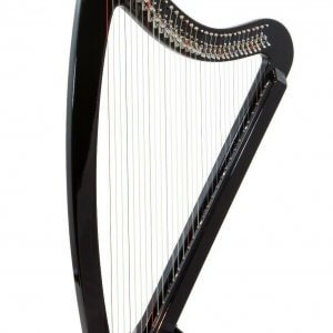 Camac DHC Blue Light 32 string Electro Harp in Black + Camac Harp Padded Bag