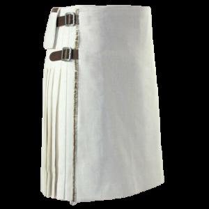 New Scottish Traditional Fashion Kilt Christmas White Kilts For Men 100% Cotton
