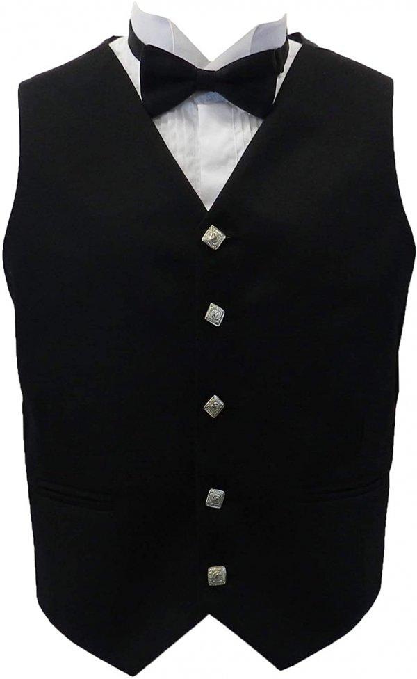 Men's Black Kilts Argyll Jacket and Vest