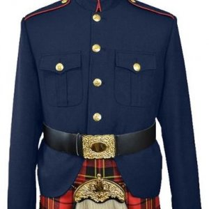 Class A Honor Guard Kilt Jacket (Navy/Red)