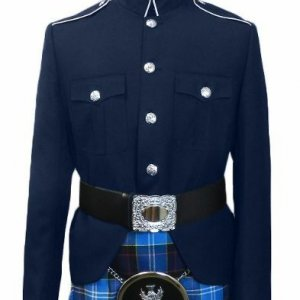 Class A Honor Guard Kilt Jacket (Navy/Silver)
