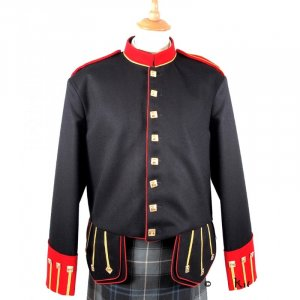 New Black, Red and Gold Military Doublet Jacket