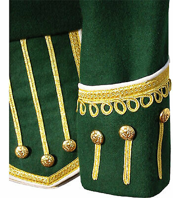 Green Pipe Band Doublet 100 wool high quality