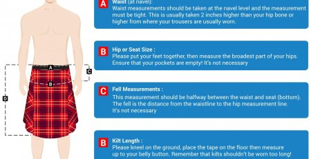 How to measure a Scottish kilt