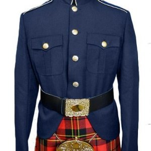 Class A Honor Guard Kilt Jacket (Navy/Gold)