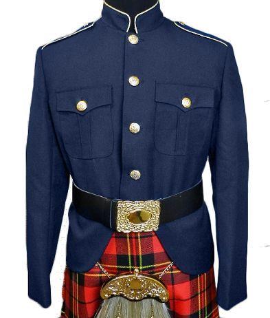 Class A Honor Guard Kilt Jacket (Navy/Gold)