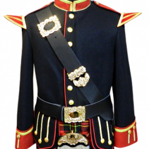 Officers Melton Doublet (Black & Red)