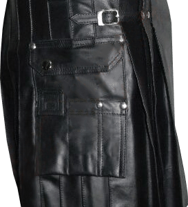 Buy New Black Mens Leather Kilts For Men