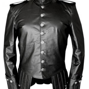 100 % Genuine Black Leather Doublet Jacket