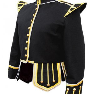 Black Pipe Band Doublet jacket