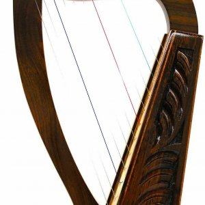 "24"" 12 STRINGS HARP+ BAG Irish Celtic Style"