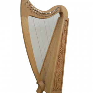 Gevon | 22 Strings Ash wood Celtic Irish Harp, Carry bag & Book
