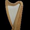 Gevon | 22 Strings Ash wood Celtic Irish Harp, Carry bag & Book