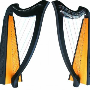 BRAND NEW 22 STRINGS SHARPING LEVERS HARP WITH CASE + EXTRA STRINGS
