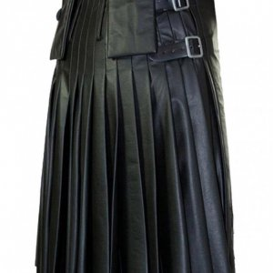 Modern Flame Leather Kilt for Men