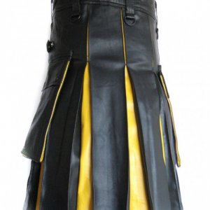 New Style Hybrid Leather Kilt for Men