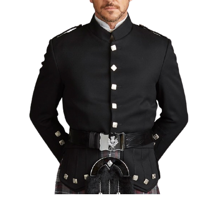 Black Kenmore Doublet Evening Jacket Custom Made