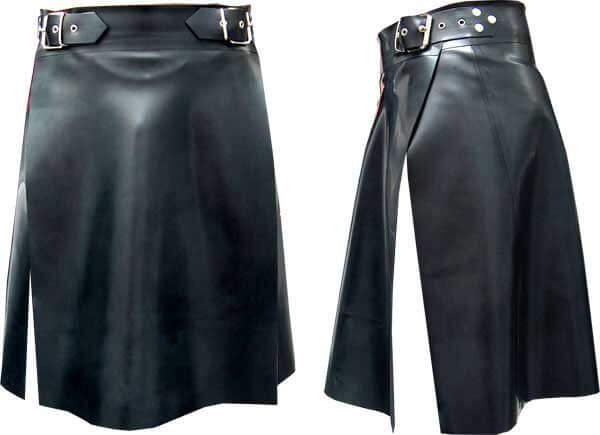 New style Black Leather Kilts For Sale