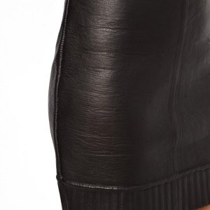 Unique Jaunt Lambs Leather Skirt with Bonded Knit Lining