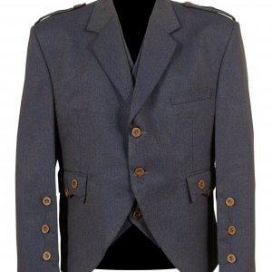 Light Purple Scottish Tweed Argyle Kilt Jacket With 5 Button Vest