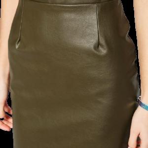 Metropolis Pace Mini Leather Skirt