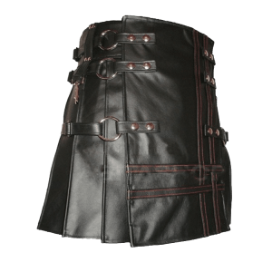 Unique Style Black Leather Kilt For Men