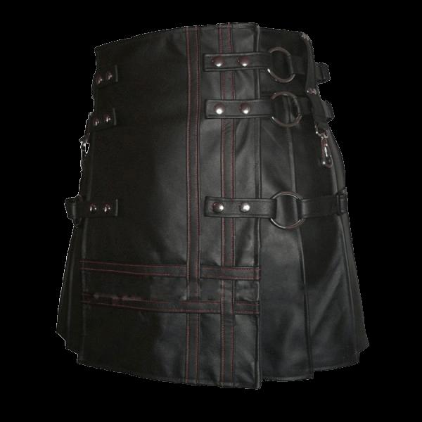 Unique Style Black Leather Kilt For Men
