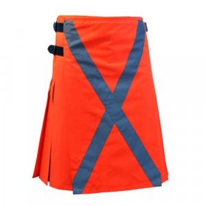 Scottish Men 100% Cotton Firefighter Turnout Fireman Kilt