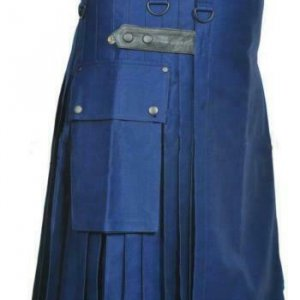 New Blue Men Scottish Utility kilt