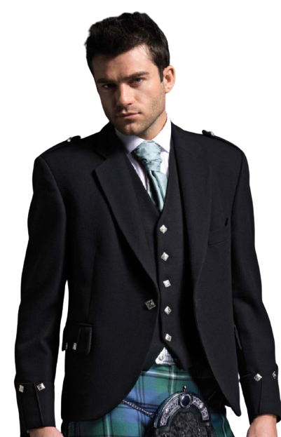 Black Argyll Jacket