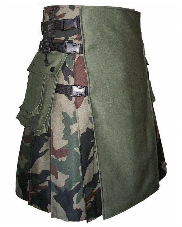 Stylish Scottish Fashion Camouflage Kilt Tactical Camo Kilts For Men